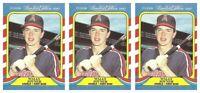 (3) 1987 Fleer Limited Edition Baseball #23 Wally Joyner Lot California Angels