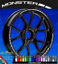 Set Adesivi Cerchi Moto Ruote DUCATI MONSTER 696 796 1100 monocolore
