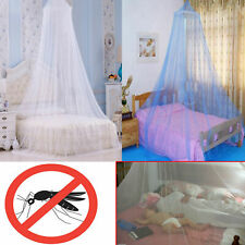 UK Seller White Blue MOSQUITO NET Bed Cover CANOPY FLY Protection Upto KING Size
