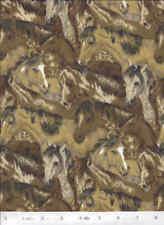Wild Horses Flannel Quilt Fabric - 3/4 Yard Piece
