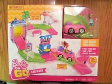 Barbie On The Go Car Wash~Playset with Figure~New in Box