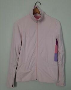 Lululemon Womens Size 8 Pale Pink Reversible Jacket Trim Color Trim Thumb Holes