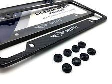 MINI COOPER Carbon Fiber License Plate Frame S 5 Countryman Clubman Comvertible
