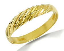 Women's Scalloped Dome Ring 18k SOLID Yellow Gold Luxury Band