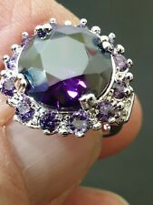 millionaire gorgeous stunning high-class amethyst ladies ring size 6. us