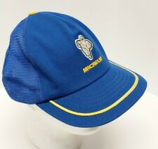 f692f846d97 Vintage MICHELIN MAN Snapback TRUCKER Hat Cap MESH Made in USA SWINGSTER