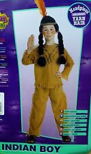 New RUBIES Child size 4-6 Indian w/ Yarn Wig Halloween Costume no. 883042