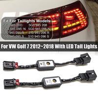 For VW Golf 7 2012~2018 2Pcs Dynamic Turn Signal Indicator LED Taillight Module