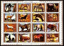 Umm al qiwain 1972 VFU mi.1370/85 a animales Animals
