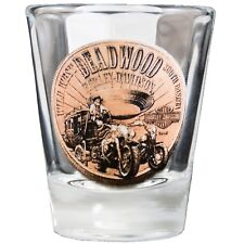 Deadwood Harley-Davidson® Bronze Coin Short Shot Glass