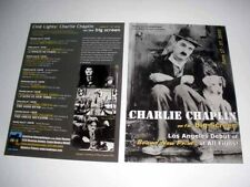 CHARLIE CHAPLIN on the Big Screen Promo Postcard City Lights The Gold Rush