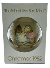 "Schmid Beatrix Potter Vintage Ornament, ""Two Bad Mice�, 1982, New"