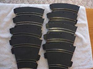 Strombecker Slot Car Track Half-Curves (9 pieces)