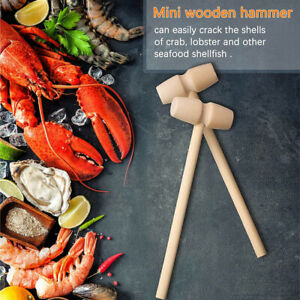 Hardwood Mallet Crab Lobster Mallets Pounding Toy Wooden Hammers Seafood Tools