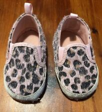 STEPPING STONES Size 9-12 Months Pink Black Brown LEOPARD PRINT SHOES SGP031104