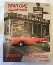 YEAR ONE Restoration Parts Accessories Catalog Winter 1998 DODGE PLYMOUTH Auto