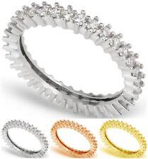 925 Sterling Silver Turkish Handmade Fashion Eternity Ring