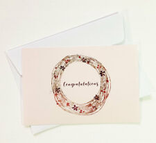 4 Congratulations Cards Greeting Wedding Engagement Pregnancy IN CONGRATS05