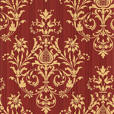 CS27362 - Classic Silks 3 Damask Red Gold Galerie Wallpaper