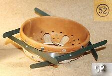 Сerclage feuillard acier ressort, cuir brun clair casque allemand WWII taille 52