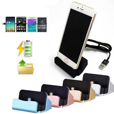 Desktop Charger Stand Dock Station Sync Charge Cradle for iPhone 5 5s 6 6S Black