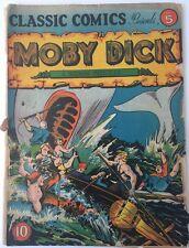 Classic Comics #5  Moby Dick Sep  1942 1st Print