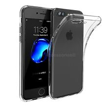 Transparent Clear Silicone Ultra Slim Gel TPU Case & Free Glass Screen Protector