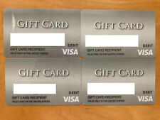 LOT of 4 empty Gift Debit Cards - Zero Balance. Collectibles.
