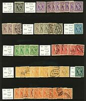Germany 1945 range of Allied Military Post British and American Zone issu Stamps