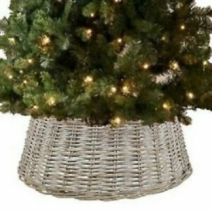 Christmas Winter Decadence Wicker Tree Skirt Xmas Tree Skirt Easy To Set Up