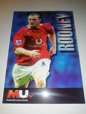 Wayne Rooney rare MUTV Autograph card manchester united