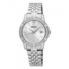 Seiko SUR741P1 Ladies Swarovski Crystal Set 30m Date Dress Watch RRP £200