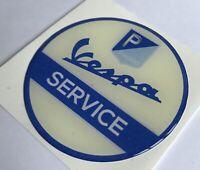 50mm VESPA SERVICE SCOOTER RESIN 3D BADGE ULMA FALBO VIGANO STICK ON BADGE