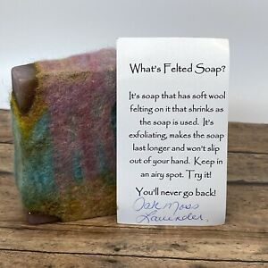 Oak Moss Lavender Felted Soap- Great For Exfoliating