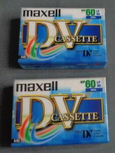 nieuw 2x MAXELL MINI DV DVM 60 LP 90 cassette band tape set SEALED DVC Kassette