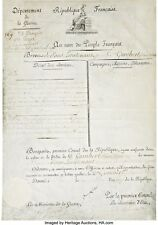 Excellent. Napoleon Bonaparte Signed, Impressive Partly Printed Document, 1803