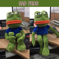 Hot 18'' Pepe The Sad Frog Plush Soft Stuffed Animal Kid Gift Kekistan Meme Doll