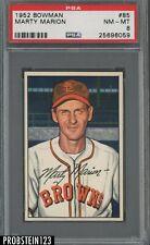 1952 Bowman SETBREAK #85 Marty Marion St. Louis Browns PSA 8 NM-MT