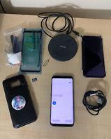 Samsung Galaxy S8 SM-G950U - 64GB - Midnight Black (Unlocked) With Accessories