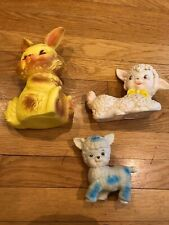 """Rubber Squeak Toy, Cute RABBIT embossed """"ARROW MOLDED PROD."""" and more"""