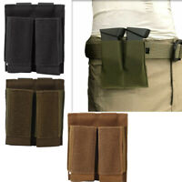 Fast Tactical MOLLE Dual Open Top Pistol Magazine Mag Pouch Flashlight Holster