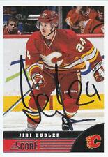 Jiri Hudler Autograph 13-14 Score Flames Card Red Wings