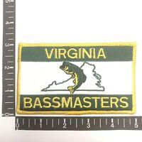 Vtg Virginia Angler VIRGINIA BASSMASTERS Fisherman Bass Fishing Patch 00SL