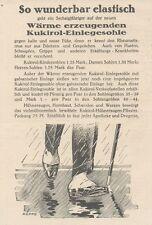Y6149 KUKIROL Einlegesohle - Pubblicità d'epoca - 1925 Old advertising