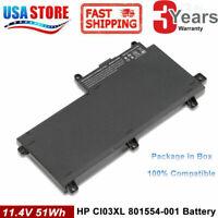 CI03 CI03XL Battery for HP ProBook 640 645 650 G2 HSTNN-UB6Q 801554-001 51Wh