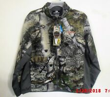 Hunting Mens Mossy Oak Camo Mountain Country Jacket Windproof Water Resistant XL