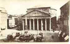Italia, Roma, Pantheon d'Agrippa  Vintage albumen print. Vintage Italy.