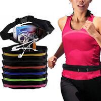 Runing Sports Bum Bag Fanny Pack Travel Waist Money Belt Zip Pouch Wallet Bags