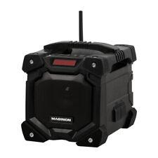 Akku Baustellenradio Radio AUX IN + Bluetooth | Wasserdicht IP45 Li-Ionen schwar