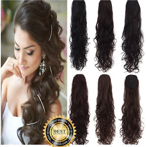 Clip In Wrap Around Hair As Human Extension Ponytail Lady Skin Weft Traceless UK